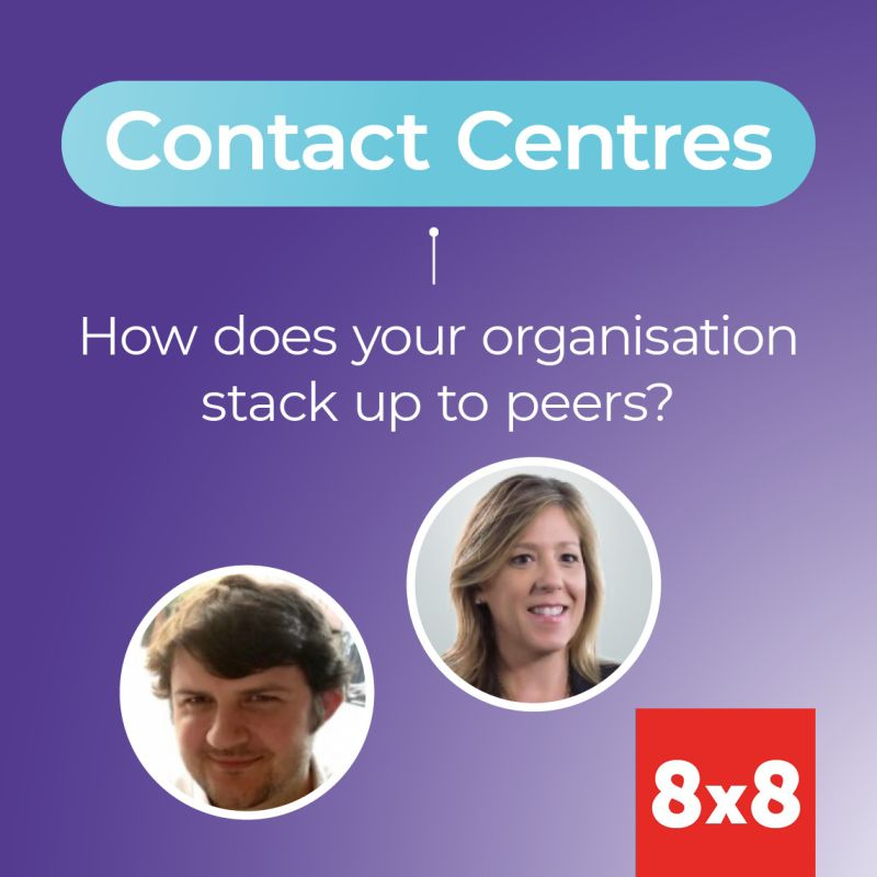 Two people with contact centre heading